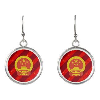 Chinese stripes flag earrings