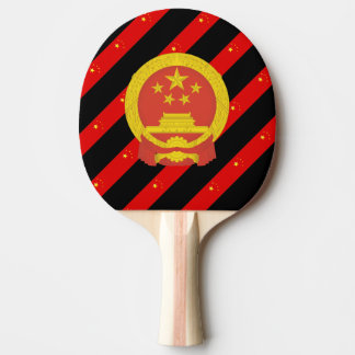 Chinese stripes flag ping pong paddle