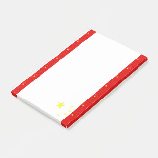 Chinese stripes flag post-it notes