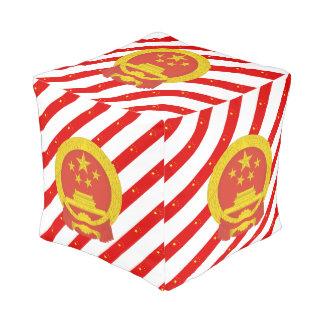Chinese stripes flag pouf