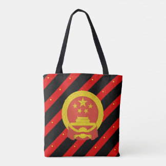 Chinese stripes flag tote bag