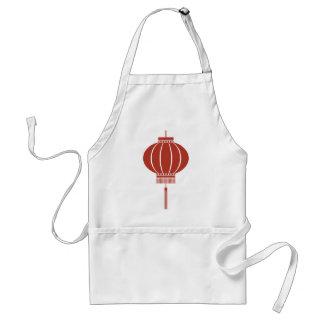 Chinese symbol, lantern, vintage, gift standard apron