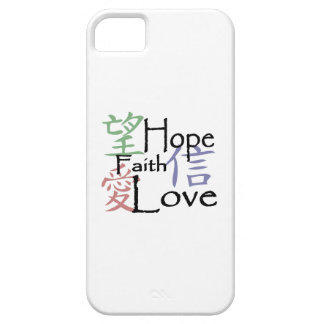 Chinese symbols for love, hope and faith iPhone 5 cover