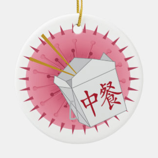 Chinese Take Out - SRF Round Ceramic Decoration