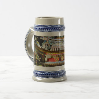 Chinese Temple Gray /Blue 22 oz Stein