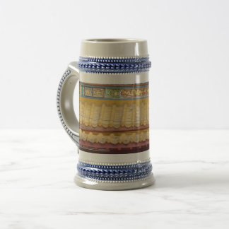 Chinese Temple Roof Gray /Blue 22 oz Stein