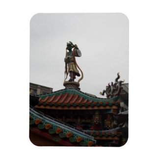 """Chinese Temple Statue 3""""x4"""" Magnet"""