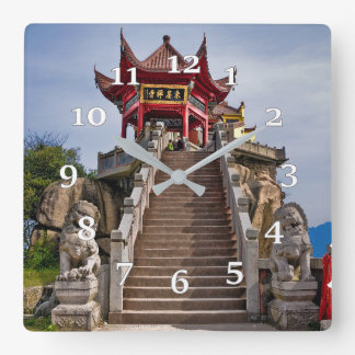 Chinese temple wall clocks