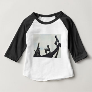 Chinese Terracotta Dogs Silhouetted On a Roof Baby T-Shirt