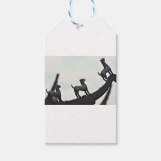 Chinese Terracotta Dogs Silhouetted On a Roof Gift Tags