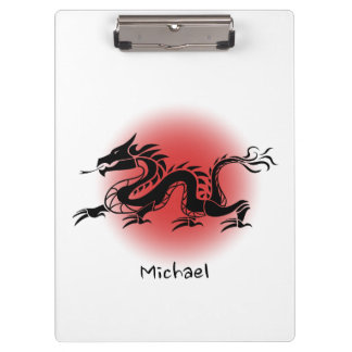 Chinese traditional dragon name clipboards