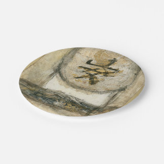 Chinese Tranquility Painting by Mauro 7 Inch Paper Plate