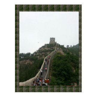 CHINESE WALL  - take a walking Vacation Postcard