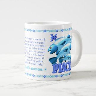 Chinese water dragon born Pisces  zodiac 1952 2012 Jumbo Mug