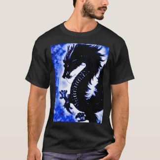 Chinese Water Dragon Fantasy Art Nouveau Tee