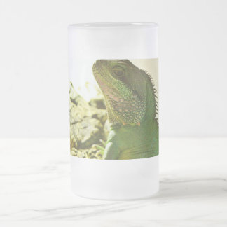Chinese Water Dragon Frosted Glass Beer Mug