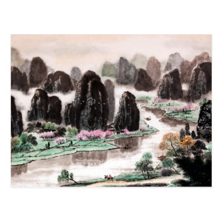 Chinese Watercolor Painting, Song of Traveller Postcard