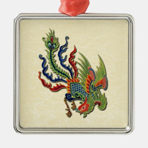 Christmas Ornaments From China : Chinese wealthy peacock tattoo zazzle