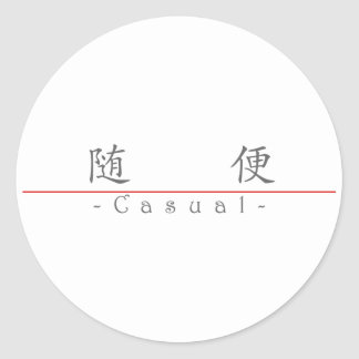 Chinese word for Casual 10143_1.pdf Round Sticker