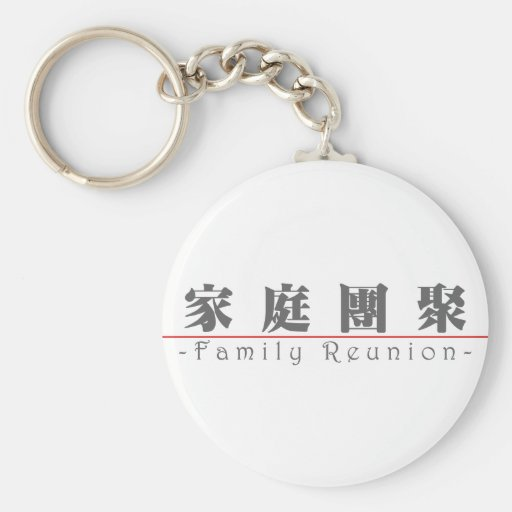 Chinese word for Family Reunion 10136_3.pdf Key Chain