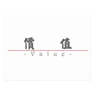 Chinese word for Value 10091_4.pdf Post Card