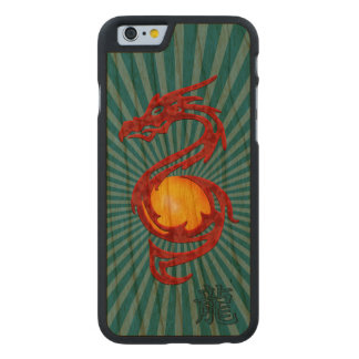 Chinese Year of the Dragon Metalic Red Carved® Cherry iPhone 6 Slim Case