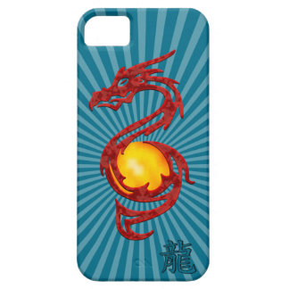 Chinese Year of the Dragon Metalic Red iPhone 5 Cover