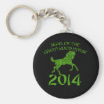 Chinese Year of the Green Wood Horse Keychains