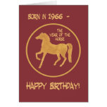 Chinese Year of the Horse Birthday Card, 1966
