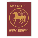 Chinese Year of the Horse Birthday Card, 1978