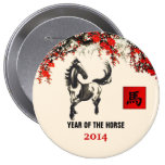 Chinese Year of the Horse Gift Buttons
