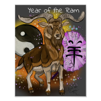 Chinese Year of the Ram Poster