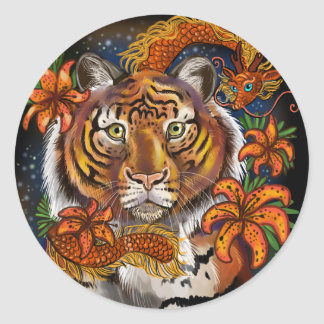 Chinese Year of the Tiger Classic Round Sticker