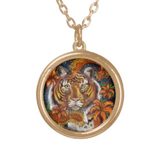 Chinese Year of the Tiger Gold Plated Necklace