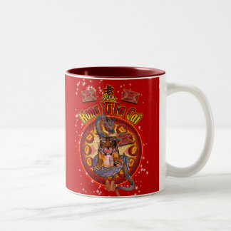 Chinese Year Of The Tiger Mug With Zodiac & Dragon