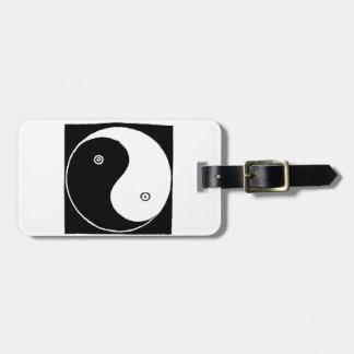 Chinese Yin Yang Symbol Luggage Tag