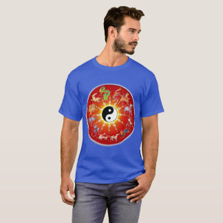 Chinese Zodiac Animal in White Outlines. T-Shirt