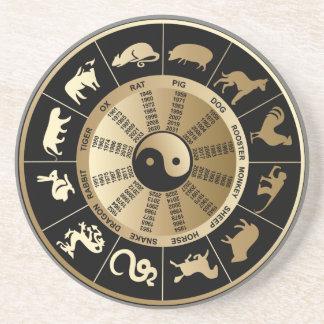 Chinese Zodiac Chart Beverage Coaster