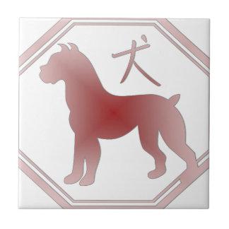 chinese zodiac dog ceramic tile