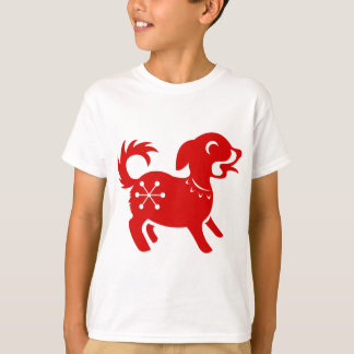 CHINESE ZODIAC DOG PAPERCUT ILLUSTRATION T-Shirt