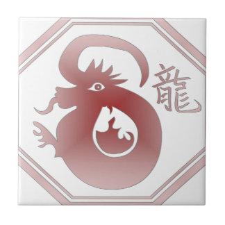 chinese zodiac dragon tile
