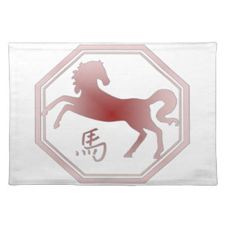 chinese zodiac horse placemats