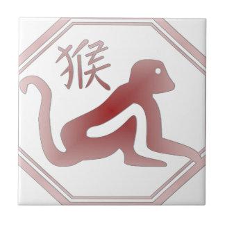 chinese zodiac monkey ceramic tile