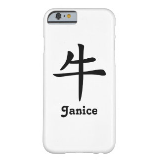 Chinese Zodiac - Ox - Black Barely There iPhone 6 Case