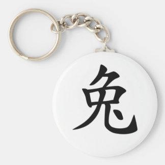 Chinese Zodiac - Rabbit Basic Round Button Key Ring