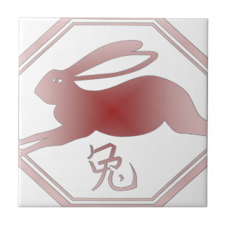 chinese zodiac rabbit tile