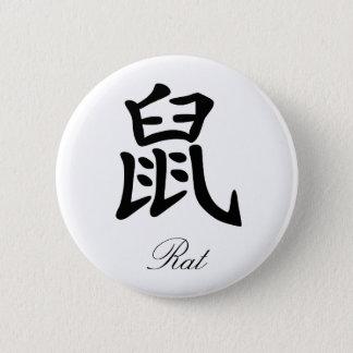 Chinese Zodiac - Rat 6 Cm Round Badge
