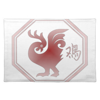 Chinese Zodiac Rooster Place Mats