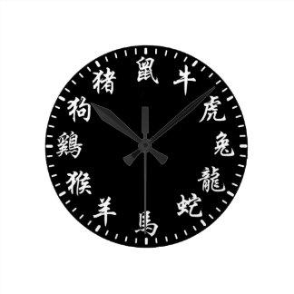 Chinese Zodiac Round Clock