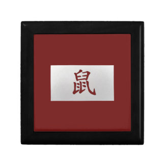 Chinese zodiac sign Rat red Gift Box